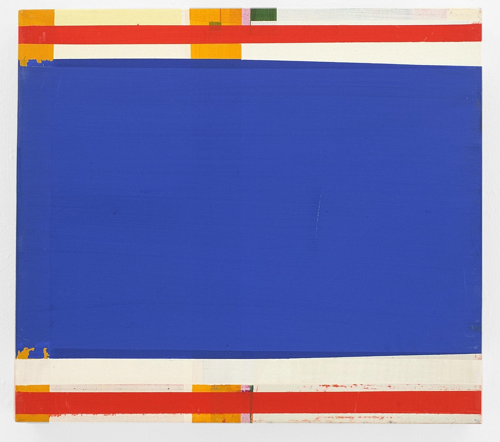 """""""Blauband"""", 70x60 cm, Acrylfarbe, Leinwand, 2001"""