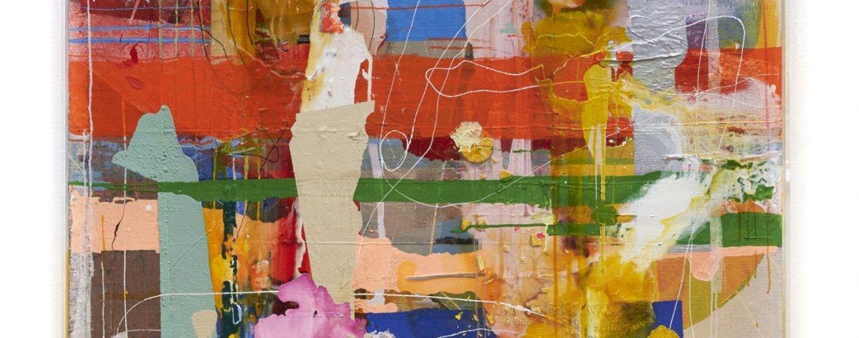 """Breaking rules"", 183x153x5 cm, Acrylfarbe, Leinwand, Jute, Plexi gerahmt, 2017"