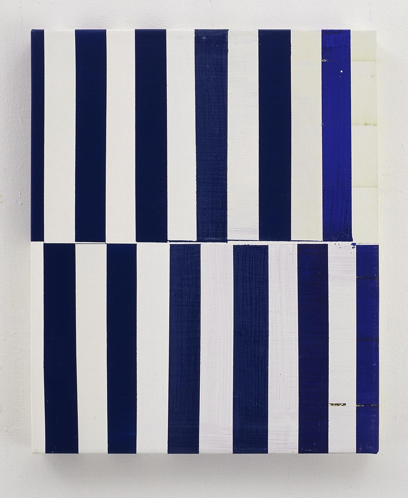 """Blue Rhythm"", 50x60 cm, Acrylfarbe, Leinwand, 2001"