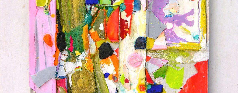 """Crumble"", 47x39 cm, Acrylfarbe, Kunststoff, Aluminium, 2010"