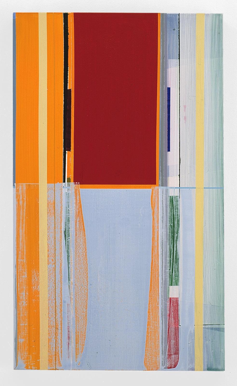 """""""Spiegelung"""", 50x90 cm, Acrylfarbe, Leinwand, 2001"""