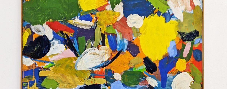 """Spätherbst"", 156 x 123 cm, Acrylfarbe, Farbpigmente, Nessel, 1984"