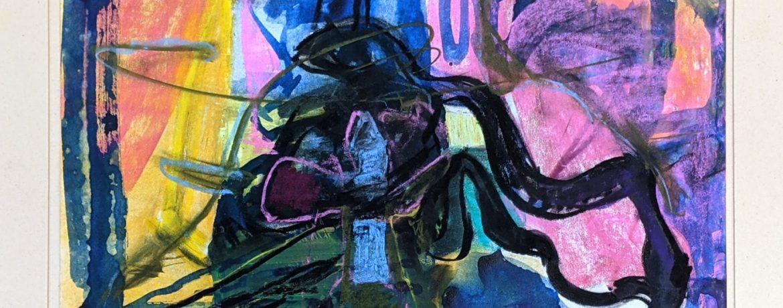 """""""Frieren"""", 27 x 38 cm, Aquarell, Kreide, Papier, 1985"""