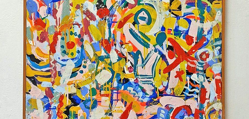 """Frühjahr"", 107 x 69 cm, Acrylbinder, Farbpigmente, 1984"