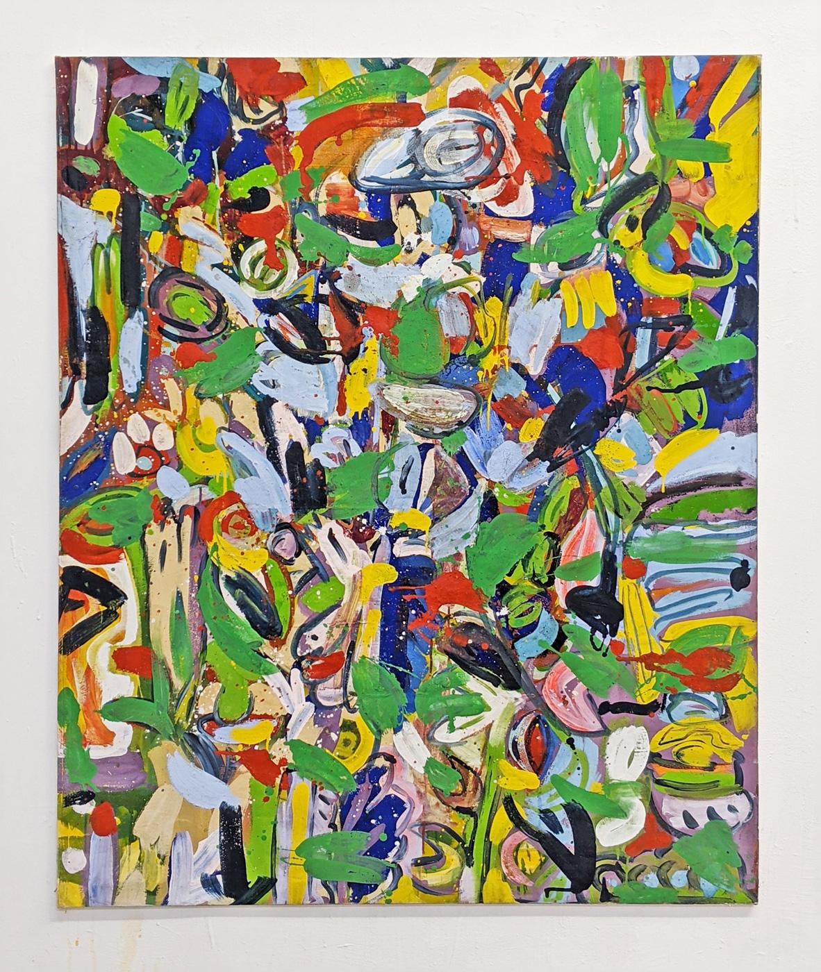 """""""Sommer"""", 139 x 115 cm, Acrylfarben, Nessel, 1985"""
