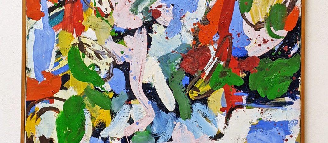 """Herbst"", 100 x 74 cm, Acrylbinder, Pigmente, 1984"
