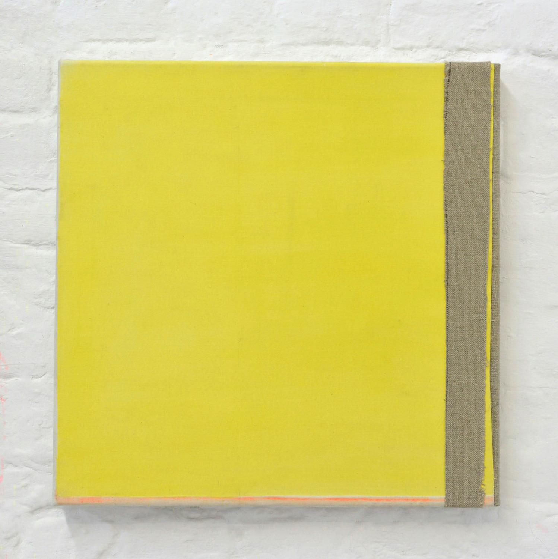 """Gelbes Quadrat"", 50 x 50 cm, Acrylfarbe, Nessel, Leinwand, 2016"