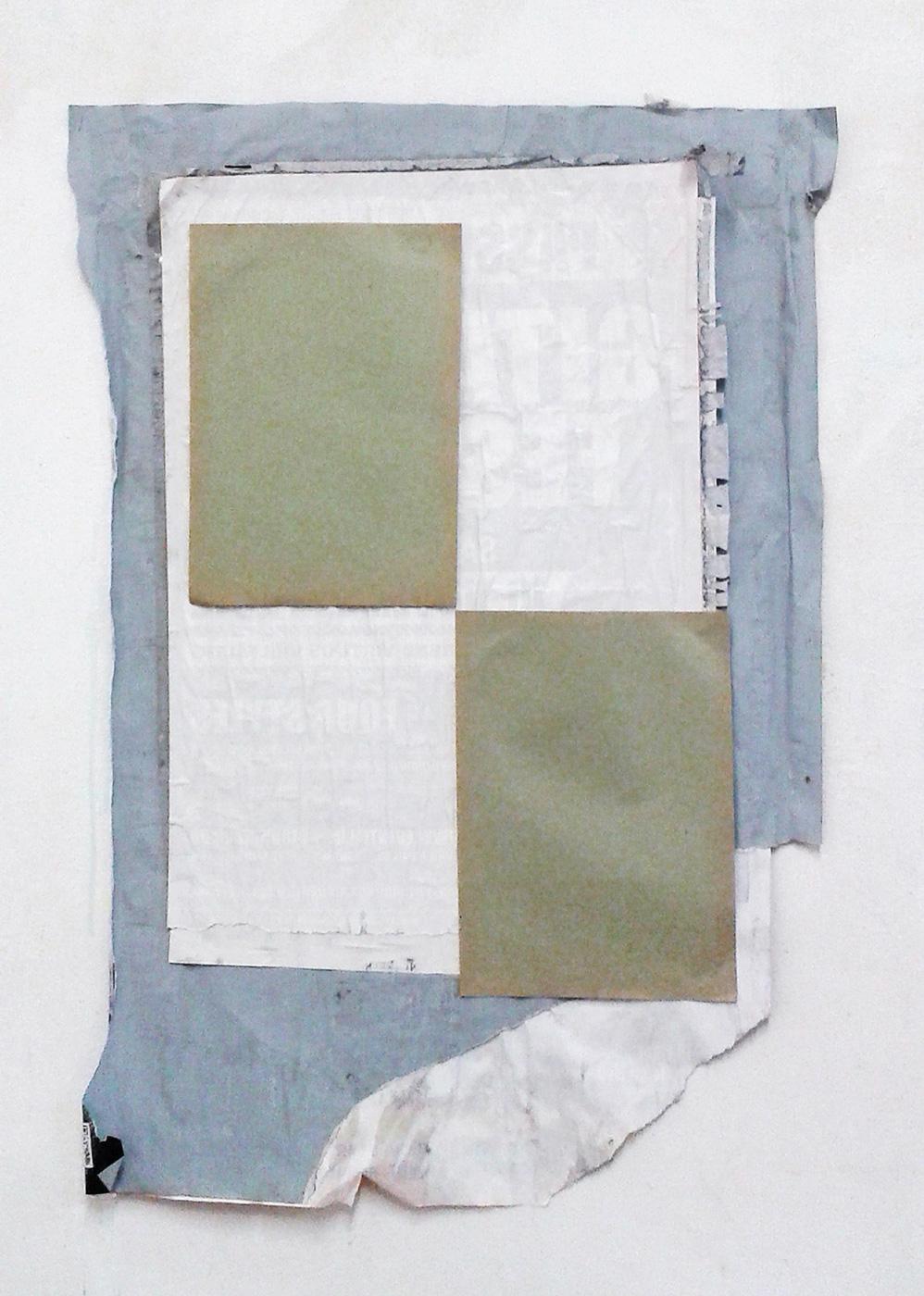 """""""Konzept mit DIN A4 Papier"""", 62 x 49 cm, div. Papiere, 2000"""